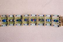 'Ägyptisch' Gold granuliert, Olivin, Glas