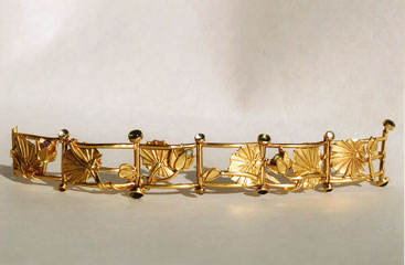 'Lotos' Gold, Opale, Turmaline, Mondsteine