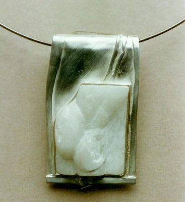 'Rückenakt' Silber, Alabaster