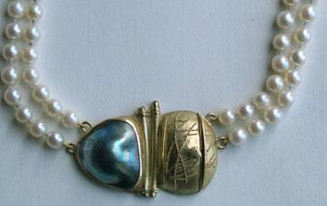 Gold granuliert, Tahitiperle, Perlen