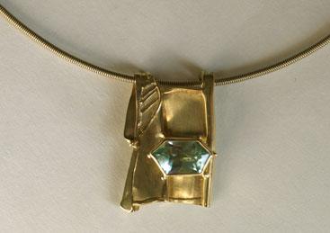 Gold, Aquamarin