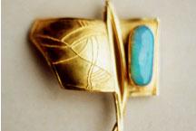 Gold granuliert, Opal