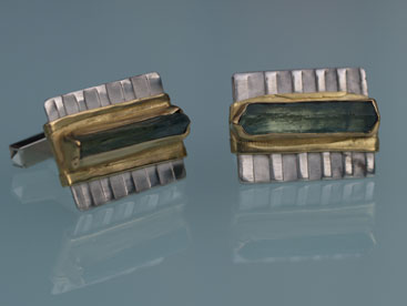 Aquamarin, Silber, Gold