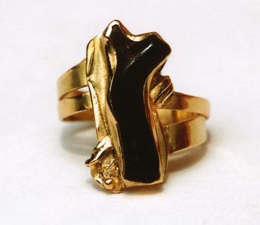 Gold, schwarze Koralle