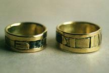 Gold, Silber geschwärzt